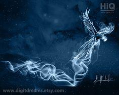 Macaw, shamanic #Patronus Harry Potter gift present artwork by DigitDreams http://etsy.me/1xRV0zh