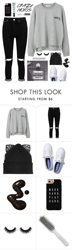 """""""this ain't love it's clear to see"""" by maribel ❤ liked on Polyvore featuring MANGO, Boohoo, Silver Spoon Attire, Keds, Casetify and Kent"""