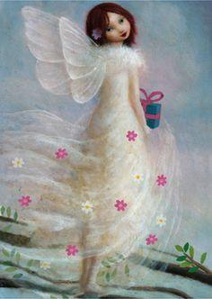 Stephen Mackey - Fairy white dress pink flowers (765x800)