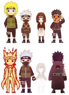 Team Minato my most favorite team even though almost everyone died. Kakashi And Obito, Naruto Shippuden Sasuke, Sarada Uchiha, Boruto, Gaara, Anime Naruto, Manga Anime, Anime Chibi, Naruto Images
