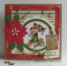 52 weeks to Christmas kaart 4 Christmas Diy, Christmas Cards, Christmas Decorations, 3d Cards, Marianne Design, Daisy, Merry, 52 Weeks, Stamp
