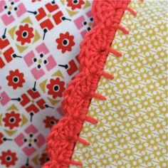 tutorial for edging ... pillowcase are kinda ugly but would be spiffy on a blanket