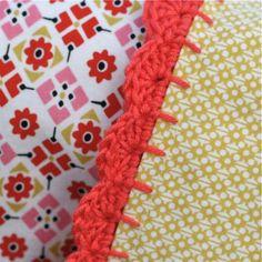 a nice crochet finish for a pillowcase or towel -- Clarissa