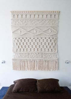 hmmm, take up macrame again? Hello, 1970s!  Sally English Macrame Weaving | Remodelista
