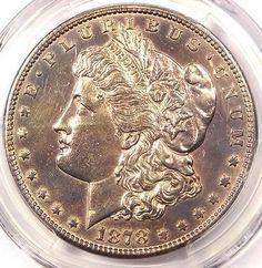 1878-CC Morgan Silver Dollar $1 - PCGS AU Details - Rare Carson City Coin!