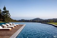 Architectural Digest Pool Gisele Bundchen and Tom Brady's California home. This view is stunning!