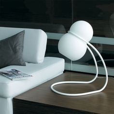 Baubau - lampička bílá / lamp Lamp Light, Lights, Chair, Furniture, Design, Home Decor, Decoration Home, Room Decor