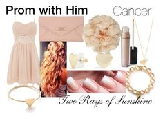 """""""Prom with Him - Cancer - Preference"""" by tworaysofsunshine ❤ liked on Polyvore featuring Carolee, Jennifer Zeuner, DKNY, John Lewis, Bare Escentuals, Jennifer Meyer Jewelry and C. Wonder"""