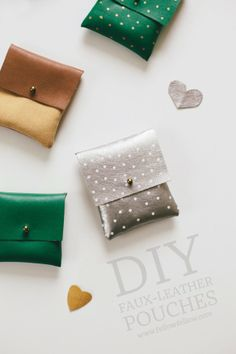 DIY: Cute Leather Pouch! | Art And Chic