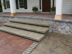 patio step down/ mix and match stones Fireplace Pictures, Patio Steps, Home Repair, Dream Garden, Bricks, Home Deco, Stepping Stones, Garden Ideas, Miniature
