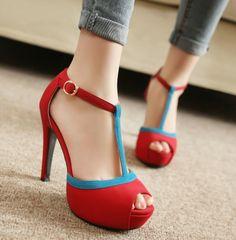 ENMAYER Fashion Vintage High Heels Platform Sandals Gladiator Ankle Straps Summer Shoes 2014 Open Toe Sandals $71.50