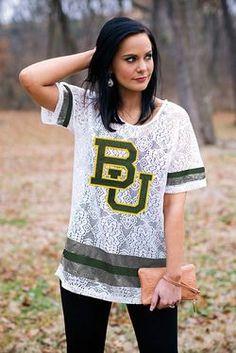 Baylor crochet lace oversized jersey