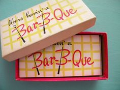 Vintage Box of Barbeque Party Invitations Mid by SongbirdSalvation