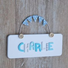 Personalised Wooden Button Door Plaque by LittleBumpkins, the perfect gift for Explore more unique gifts in our curated marketplace. Craft Letters, Letter A Crafts, Bedroom Door Signs, Room Signs, Nursery Ideas, Room Ideas, Personalized Plaques, Framed Pictures, Diy Ideas