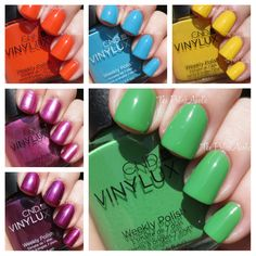 CND Vinylux Summer 2014 Paradise Collection Swatches