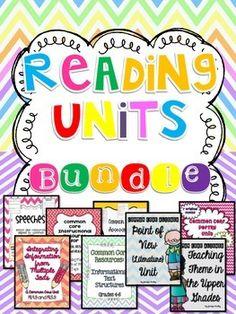 Common Core Reading Units Bundle {4th and 5th Grade}
