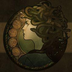 Medusa Nouveau - Print