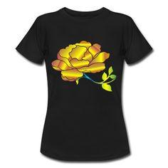 Frauen T-Shirt goldene Rose