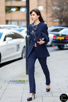 London Fashion Week FW 2015 Street Style: Caroline Sieber - STYLE DU MONDE | Street Style Street Fashion Photos
