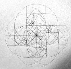 Fibonacci sequence Phi spirals is it a mandala? Divine Proportion, Fibonacci Spiral, Fibonacci Sequence Art, Math Art, Crop Circles, Golden Ratio, Geometric Patterns, Geometric Mandala, Islamic Patterns
