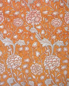 'Wild tulip' textile design by Morris & Co, produced in 1884 __ posted on flickr by John Hopper, for The Textile Blog