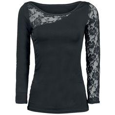 Spiral  Langarmshirt  »Lace Shoulder« | Jetzt bei EMP kaufen | Mehr Gothic  Langarmshirts  online verfügbar ✓ Unschlagbar günstig!