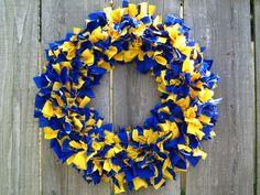 University of Michigan/ Indiana Pacers rag wreath