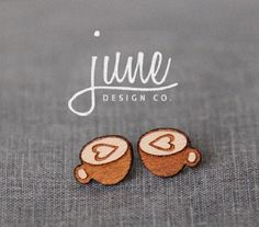 Wooden Coffee Cup Earrings