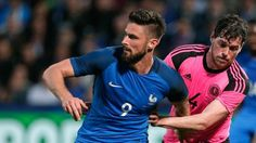 Olivier Giroud on fire after scoring twice against Scotland