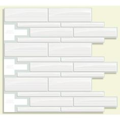 Smart Tiles - White Peel and Stick, Infinity Blanco Mosaik - 9.75 Inch x 10.5 Inch - SM1028-1 - Home Depot Canada