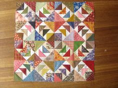 Quilting with the Past: Second UFO - Lucy & Bonnie Hunter are long time friends....I wonder if this is where the idea from Wild Goose Chase came from??  Read today that her paper piecing block will be in a future Quiltmaker Magazine!  Yeaaa! :)