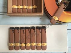 Decorated cigar cookies