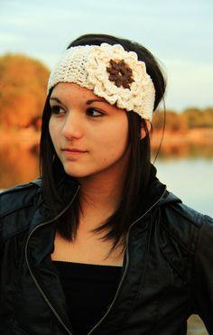 Ear Warmer Wide Crochet Headband by Hannapaige on Etsy, $15.00