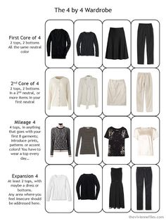 4x4 Wardrobe- Black, White, & Grey