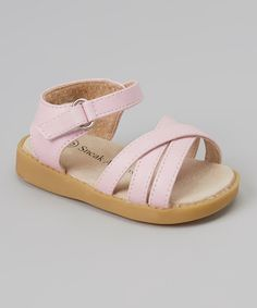Another great find on #zulily! Pink Strapped Squeaker Sandal by Sneak A' Roos #zulilyfinds