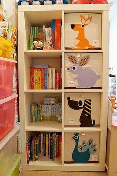 Litlu dótakassarnir frá 3 Sprouts smellpassa inn í IKEA Expedit/Kallax hillurnar! www.andarunginn.is