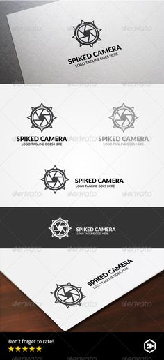 Simple Logo, from a combination of spiked balls with a camera. This makes the logo look fierce and strong.  #malignant #photography #pointed • Click here to download ! http://graphicriver.net/item/spiked-ball-camera/8340659?s_rank=278&ref=pxcr