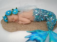 Baby Mermaid sculpture