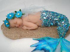 Baby Mermaid sculpture