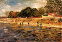 The Banks of the Seine - Vincent van Gogh- 1887 ........................#GT