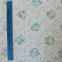 1960's vintage fabric fat quarter tiny blue violet and by sosovintage