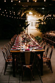 Beautifully Moody Conservatory Wedding in Chicago : Moody Conservatory Wedding: Our outdoor wedding reception was held in another hall in the conservatory that had been adorned in sweeping market lights across the whole ceiling! They reflected Outdoor Wedding Reception, Gatsby Wedding, Wedding Receptions, Outdoor Weddings, Gatsby Party, Rustic Wedding, Burgundy Wedding, Red Wedding, Wedding Tips