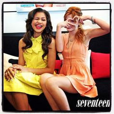 Zendaya and Bella Thorne bring their cuteness to the #Seventeenmag office. Great meeting you guys!