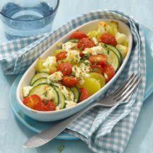 Potato and zucchini gratin Plats Weight Watchers, Weight Watchers Snacks, Calories In Vegetables, Veggies, Fruit Calories, Vegetarian Recipes, Healthy Recipes, Eat Smart, Gratin