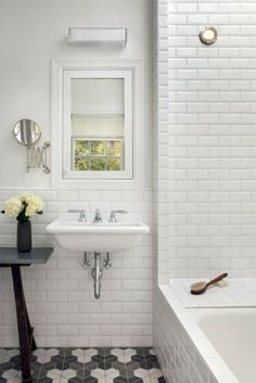 TREND: dekoracyjna podłoga w łazience // pattern floor in the bathroom