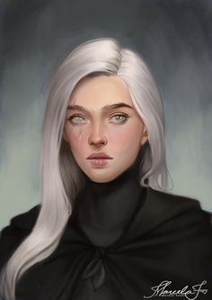 f Sorcerer portrait tower urban city Female, Human, Aasimar, Winter Witch, White-haired Witch - Fantasy Character Design, Character Creation, Character Design Inspiration, Character Art, Female Character Concept, Dnd Characters, Fantasy Characters, Female Characters, Dark Fantasy