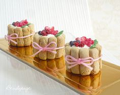 Miniature Food Charlotte Russe Cake Pastry by KawaiiCraftCottage Charlotte Russe Dessert, Charlotte Cake, Mini Cakes, Cupcake Cakes, Cupcakes, Quick Dessert Recipes, Cake Recipes, Berry Tart, Doll Food