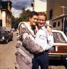 Sean Young and Ridley Scott on the set of Blade Runner