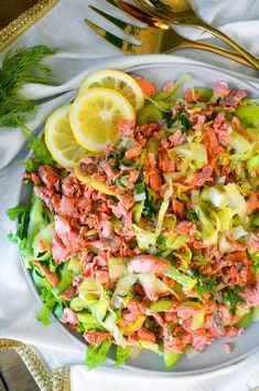 Poached Salmon Salad with Dill Vinaigrette
