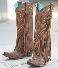 Corral Fringe Cowboy Boot - Women's Shoes   Buckle